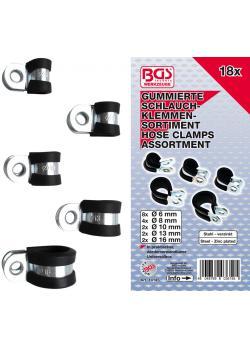 Hose clamp set - rubberized - 18 pcs.