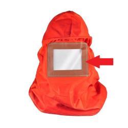Ersättningslinsa - för HK 200 skyddshuva - plast - 152 x 122 x 1,2 mm