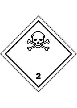 """Farligt gods skylt - """"giftiga gaser"""" - klass 2"""