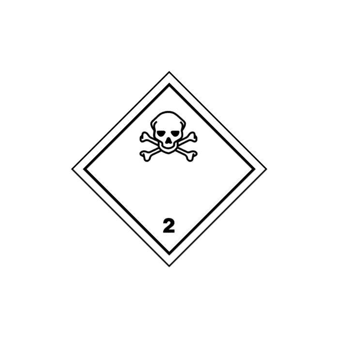 """Gefahrgutzeichen """"Giftige Gase Klasse 2"""" 5-40 cm Seitenlänge"""
