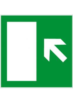 """Nödutgångsskylt """"nödutgång vänster"""" - sidolängd 5-40 cm"""