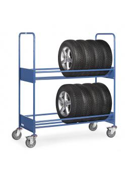 Tyre truck - with 2 shelves - up to 400 kg