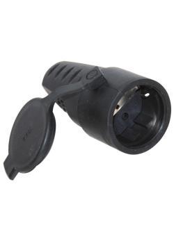 Industrie-Buchse - mit Gummischutztülle - 16 A / 250 V