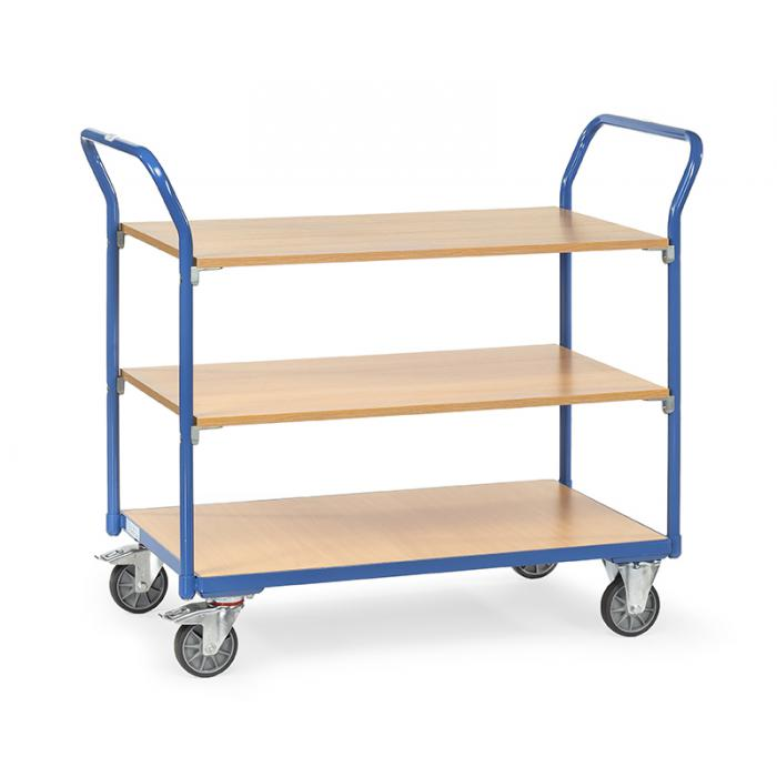 Table trolley - with 3 floors - carrying capacity 200 kg