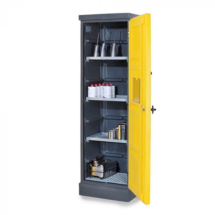 Umweltschrank PolyStore - Typ PS 620-3.1 - Kunststoff - Breite 610 mm - 3 Auffangwannen, 1 Gitterrost Edelstahl oder verzinkt