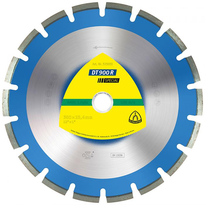 Diamanttrennscheibe DT 900 R - Durchmesser 300 bis 500 mm - Bohrung 25,4 bis 30 mm - lasergeschweißt