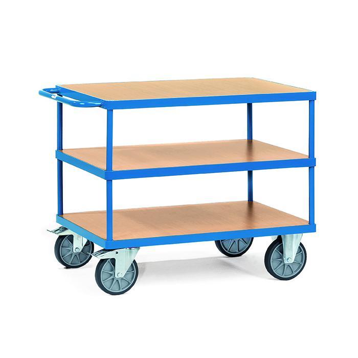 Tabella carrello - fino a 600 kg - con 3 piani di legno