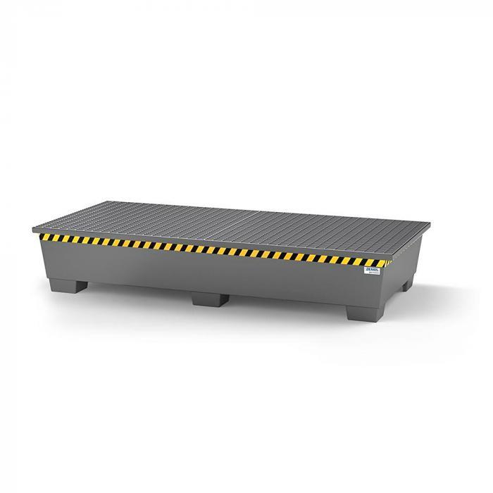Auffangwanne pro-line - Stahl lackiert oder verzinkt - für 2 IBC - 2 Gitterroste