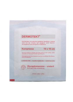 DERMOTEKT® Übungs-Kompresse - 10 x 10 cm - 2 Stk. - unsteril