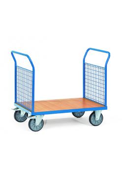 Double-Platform trolley - with end panels made of wire mesh