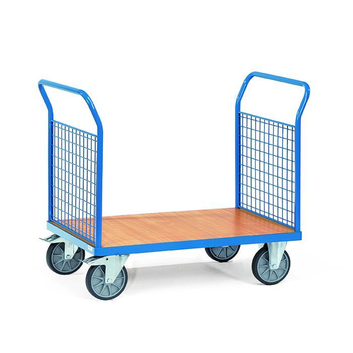 Doppio-Platform trolley - con pannelli terminali realizzato in rete metallica