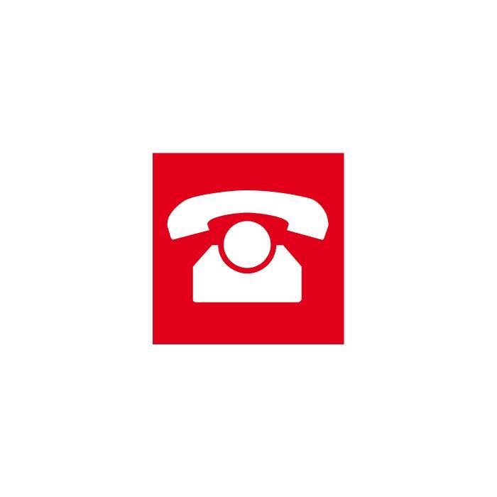 """Brandschutzzeichen """"Nottelefon"""" - Seitenlänge 5-40 cm"""
