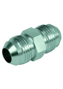 """Connection screw connection - steel chrome-plated - 2 JIC external threads UNF 3/8 """"to UN 2 1/2"""""""