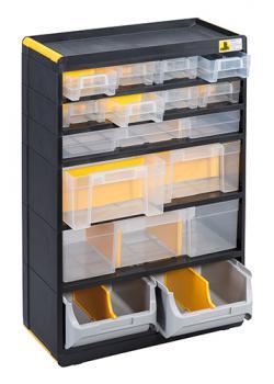 Kleinteiledepot VarioPlus Depot P 26 - mit 12 Schubladen und 2 Sichtboxen - Außenmaße (B x T x H) 300 x 165 x 480 mm