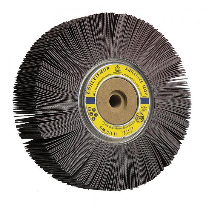 Schleifmoprad SM 611 H - Durchmesser 165 mm - Breite 25 bis 50 mm - Korn 40 bis 240 - VE 3 oder 5 Stück - Preis per VE