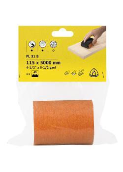 Finishingpapier Rolle PL 31 B - Breite 115 mm - Länge 5000 mm - Korn 40 bis 180
