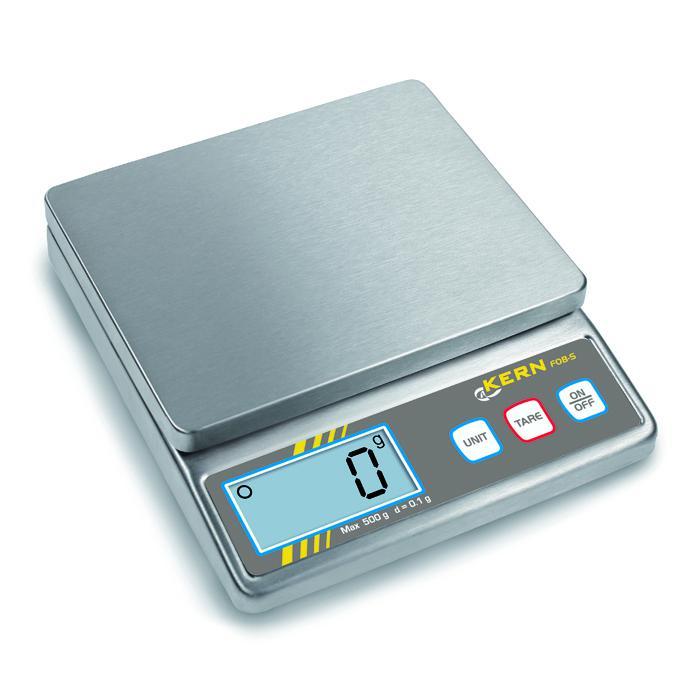 Waage - Wägebereich 0,5 kg bzw. 5 kg - Ablesbarkeit [d] 0,1 bzw. 1 g