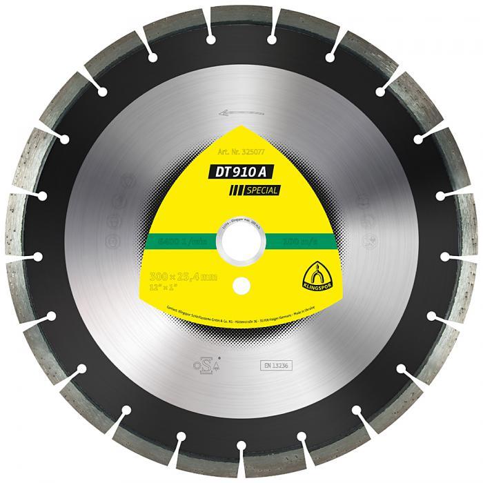 Diamanttrennscheibe DT 910 A - Durchmesser 300 bis 500 mm - Bohrung 25,4 mm - lasergeschweißt - eng verzahnt