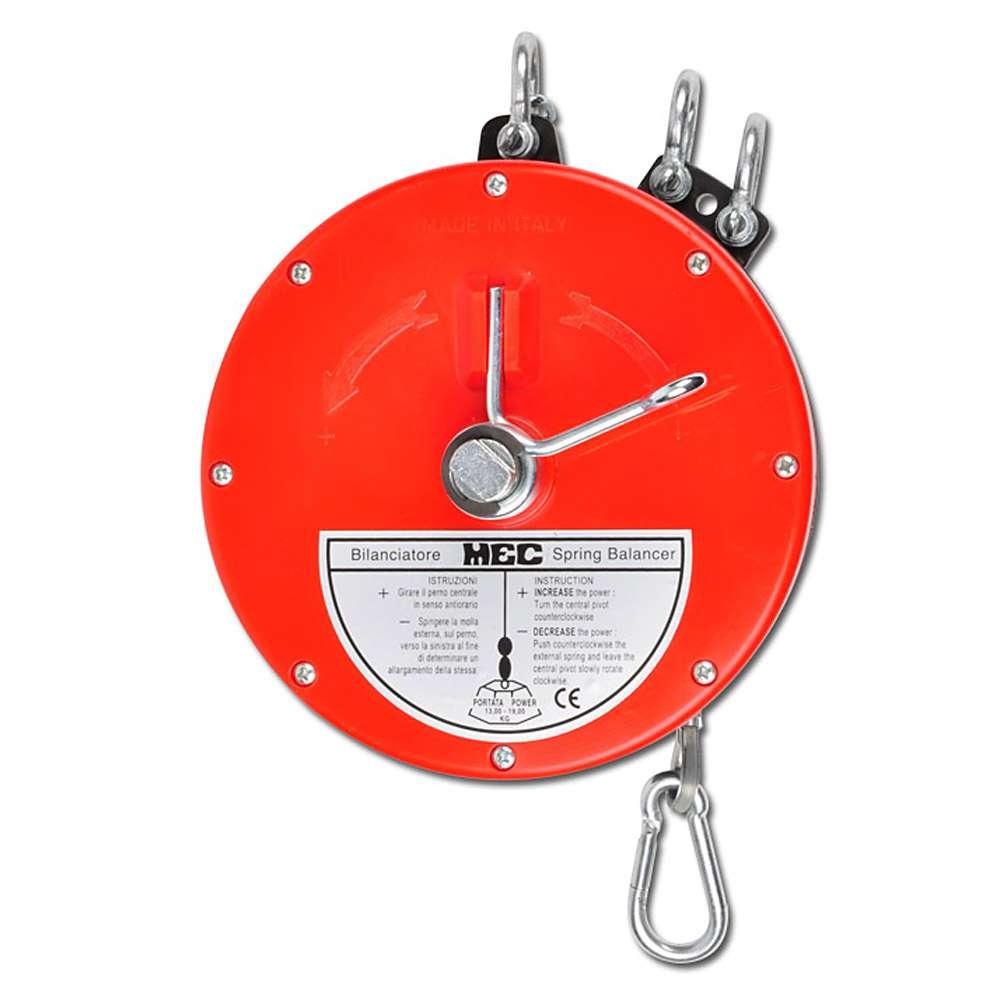 "Equilibreur à ressort ""BS4"" - charge 13-19 kg - câble nylon ou Rilsan/inox"
