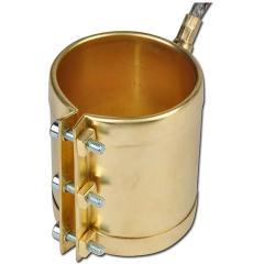Heizmanschette/ Düsenheizband aus Messing - 56 bis 60 mm Durchmesser - 230V