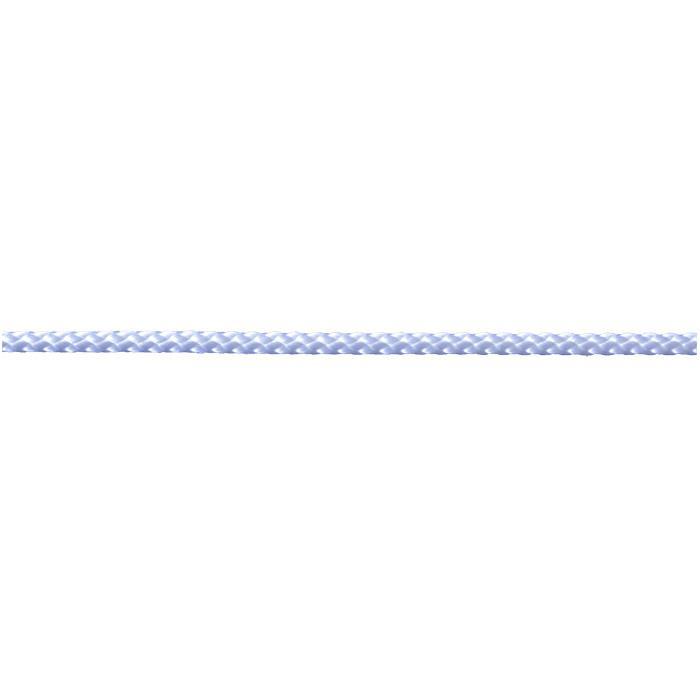 Cord - nylon - flätat - vit - på spole