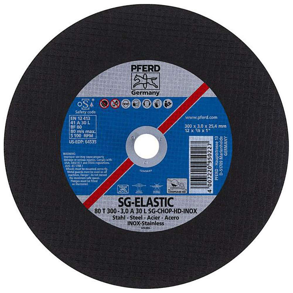 Skärskiva - PFERD SG-ELASTIC - för rostfritt stål - för kraftfulla skärare - pris per styck
