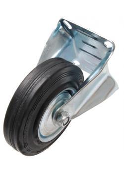 Bockrolle - mit Anschraubsockel - 125 mm