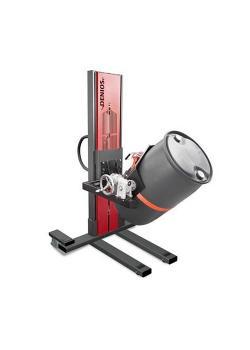 Sollevatore fusti Secu Ex tipo W - telaio stretto - ATEX - girevole - per fusti da 60 a 220 lt