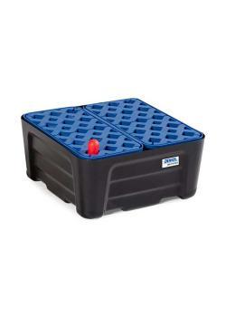 Kleingebindewanne SC-P 20 - Polyethylen (PE) - mit PE-Gitterrost - 20 Liter Auffangvolumen