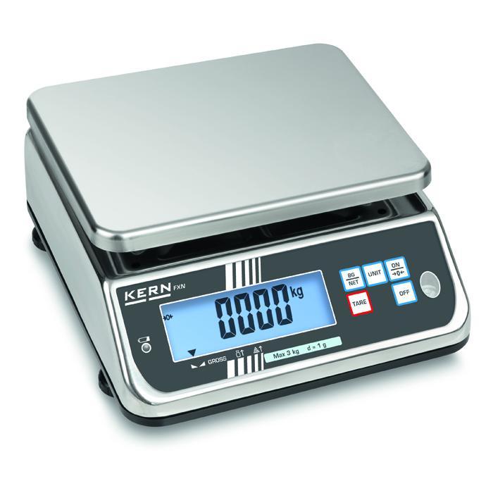 Waage - Wägebereich 3 bis 30 kg - Ablesbarkeit [d] 0,5 bis 5 g - Schutzklasse IP 68