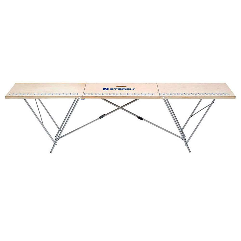 Aluminum wallpapering table - width 60 to 100 cm - length 320 cm - working height 90 cm - with wooden frame or aluminum frame \ n