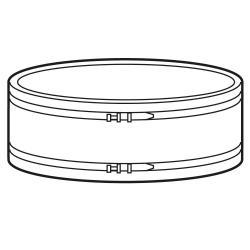 Gummimanschette FBD 400 - elastische Verbindung zur Rohrleitung für Ventilator FB 400 - inkl. 2 Bandschellen