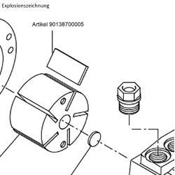 Kohleschiebersatz - für Drehschieberpumpe VT 4.4 - VE 5 Stück