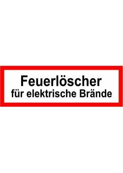 """Brandskydd - """"Brandsläckare för elektriska bränder"""" - 5x15 / 10x30 eller 20x60 cm"""