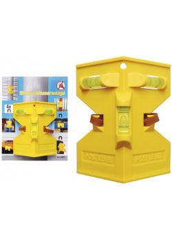 Pfosten-Winkel-Wasserwaage - inkl. 4 Magneten und Gummiband