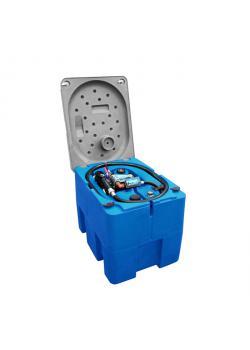 Mobil Bränsletank - 210 liter - för diesel - pump 40 l / min 230 V - med låsbart lock