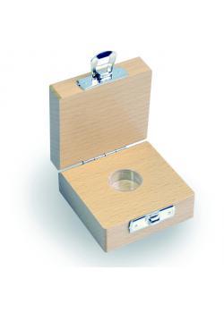 Etui für Prüfgewicht E 1 bis M 3 - Einzelgewichte à 1 mg bis 500 mg - Holz