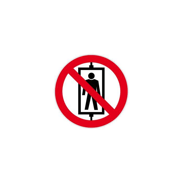 """Verbotszeichen - """"Personenbeförderung verboten"""" - Ø 5-40cm"""