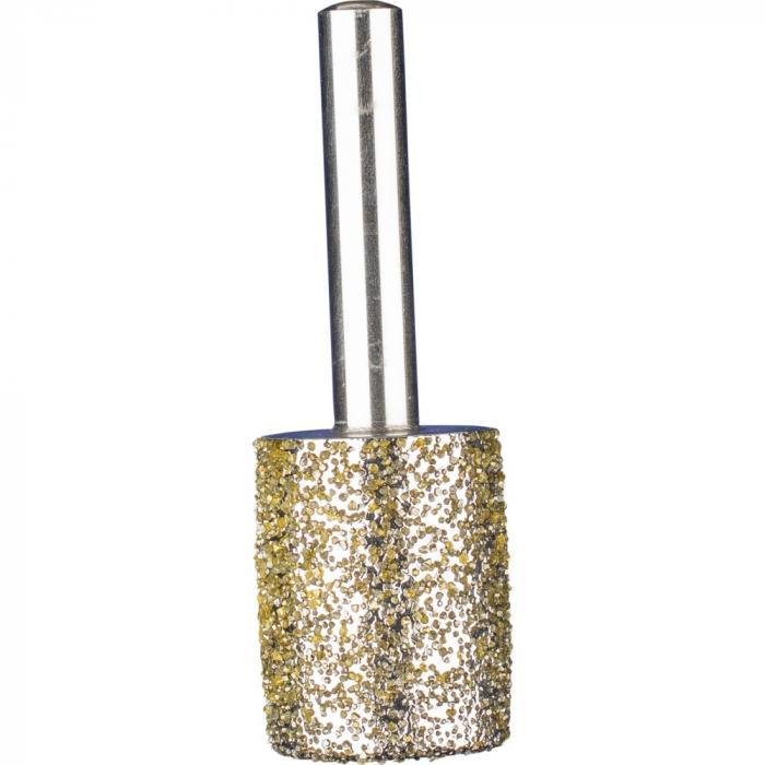 PFERD Diamant-Schleifstift für Grau- und Sphäroguss - Zylinderform ZY - Korngröße D 852 - Außen-ø 16 bis 24 mm - Schaft-ø  8 mm