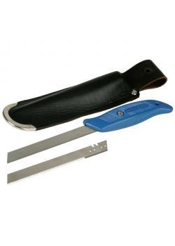 Dämmstoffmesser-Set - Ledertasche - Glatte und Gezahnte Klinge