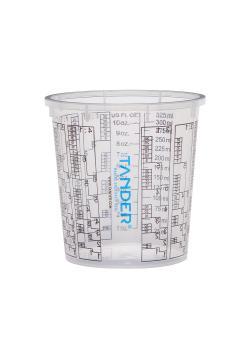 Lackblandningskopp - engångs - med blandningsskala - i olika storlekar - pris per förpackning