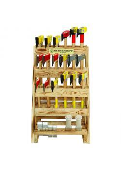 Sales stand - 24-piece - Dimensions (H x W x D) 110 x 68 x 75 cm - incl. Various axes, hatchets etc.