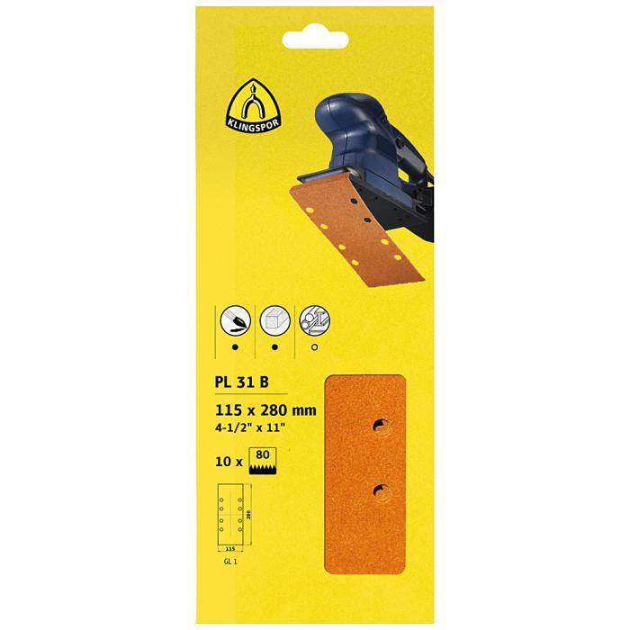 Finishingpapier Streifen PL 31 B - Breite 93 bis 115 mm - Länge 230 bis 280 mm