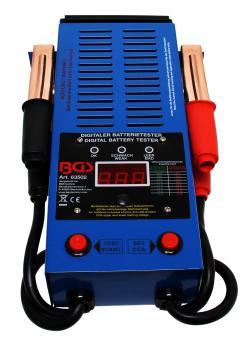 Digital battery tester - for testing of vehicle batteries, charging and starting systems - 3 digits