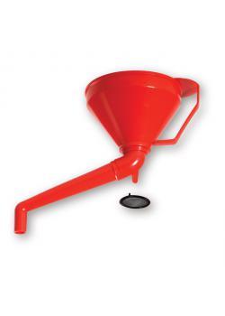 Muovisuppiloa 160mm - kulma outlet - kahvalla - 160 mm