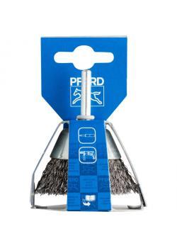 Topfbürste - PFERD POS TBU 5010/6 ST 0,30 - ungezopft, mit Schaft - Stahldrahtbesatz