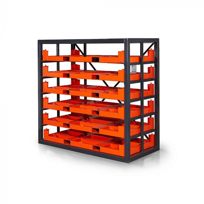 Kassettenregal Typ RKR - mit sechs Ebenen - Traglast 2000 kg - verschiedene Ausführungen
