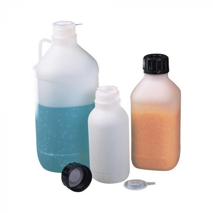 FN-flaska - HDPE - med PP-manipuleringsförslutning - transparent - läckagesäker - olika versioner