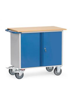 Workshop trolleys - with 1 two-door cabinet - up to 400 kg