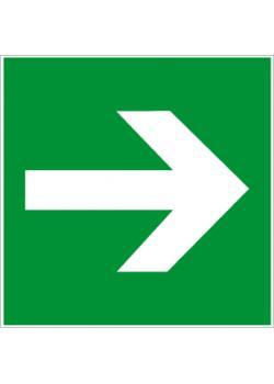 """Nödutgångsskylt """"riktningspil"""""""